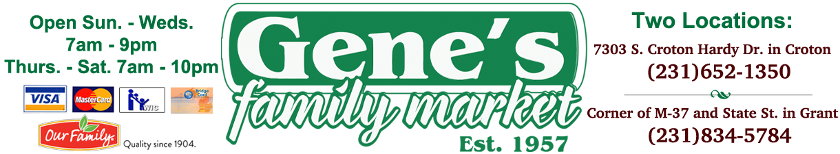 Welcome to Gene's Family Market